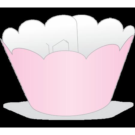Saia para Cupcake Rosa - 12 Unidades