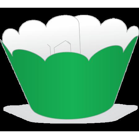 Saia para Cupcake Verde - 12 Unidades