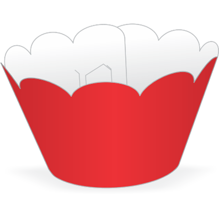 Saia para Cupcake Vermelha - 12 Unidades