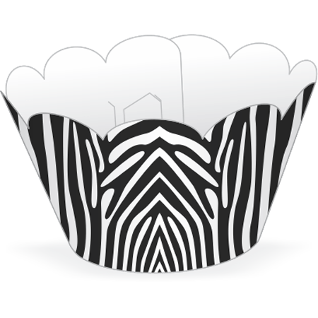 Saia para Cupcake Zebrinha - 12 Unidades