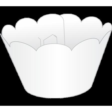Saia para Mini Cupcake Branca - 12 Unidades