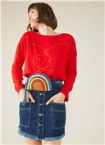 Saia Pesponto Vintage Jeans 36