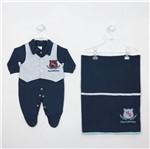 Saida de Maternidade Azul Marinho Masculina-RN