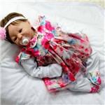 Saída de Maternidade Clara Floral Rosa 4 Peças