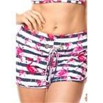 Saída de Praia Shorts com Ilhós Flamingo P