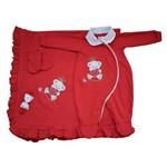 Saída Maternidade Ursinha Balão Kids Vermelho - Tam P