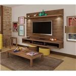 Sala Completa Artely: Painel Evolution+ Mesa de Centro Sonatta+ Mesa de Apoio Sonatta - Rústico