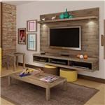 Sala de Estar com Painel e 2 Mesas Dubai Siena Móveis Fosca