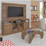 Sala de Estar com Rack, Painel e Mesa de Centro Logan Siena Móveis Pinho