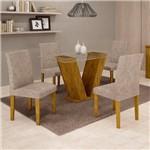 Sala de Jantar 4 Cadeiras Classic Ypê Pena 84