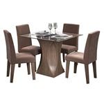 Sala de Jantar Andréia 100cm com 4 Cadeiras Marrocos