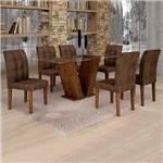 Sala de Jantar Classic 6 Cadeiras Vitória Chocolate Animale Marrom 52