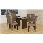 Sala de Jantar Grécia Rufato - 180 C/ 06 Cadeiras - Castor- Animalle Chocolate
