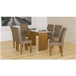 Sala de Jantar Grécia Rufato - 180 C/ 06 Cadeiras - Imbuia - Animalle Chocolate