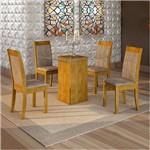 Sala de Jantar Havana 4 Cadeiras Rubi Ypê Pena 84