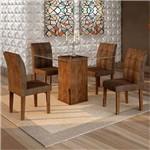 Sala de Jantar Havana 4 Cadeiras Vitória Chocolate Animale Marrom 52