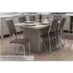 Sala de Jantar Kappesberg - Base de Madeira Versatti 160cm+6 Cadeiras Londres Cromadas-Marrom 21
