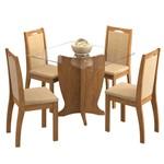 Sala de Jantar Luana 100 Cm com 4 Cadeiras Savana - Sued Marfim