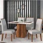 Sala de Jantar Mesa Itália 120cm e 4 Cadeiras Áurea Terrara/off/claro - Dj Móveis