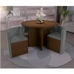 Sala de Jantar Nira com 4 Cadeiras Kappesberg - Walnut/tornado