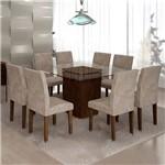 Sala de Jantar Ômega 8 Cadeiras Classic Chocolate Pena 84