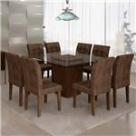Sala de Jantar Ômega 8 Cadeiras Vitória Chocolate Animale Marrom 52