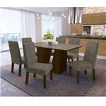 Sala de Jantar Romã com 6 Cadeiras Kappesberg - Walnut/café