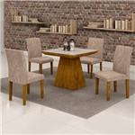 Sala de Jantar Sevilha 4 Cadeiras Classic Ypê Pena 84