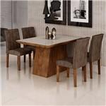 Sala de Jantar Sevilha I 4 Cadeiras Miami Chocolate Animale Marrom 52