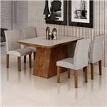 Sala de Jantar Sevilha I 4 Cadeiras Miami Chocolate Suede Cinza 90