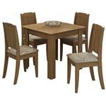 Sala de Jantar Suly 90 Cm com 4 Cadeiras - Savana