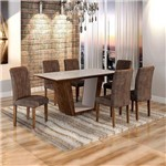 Sala de Jantar Viggor 6 Cadeiras Belle Chocolate Animale Marrom 52