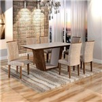 Sala de Jantar Viggor 6 Cadeiras Belle Chocolate Pena 84