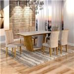 Sala de Jantar Viggor 6 Cadeiras Belle Ypê Pena 84