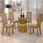 Sala de Jantar Vitória 4 Cadeiras Rubi Ypê/off White Pena 84
