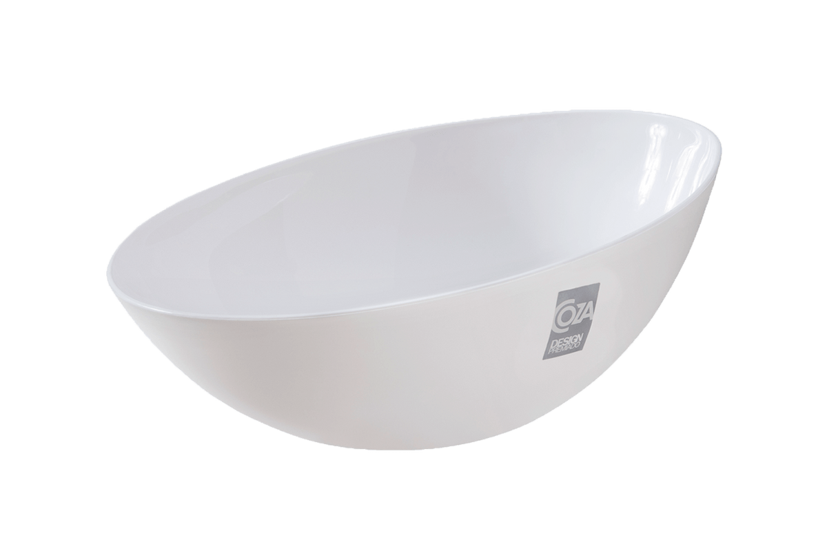 Saladeira 1,75 L Essential 27,8 X 21 X 11,6 Cm Branco Coza