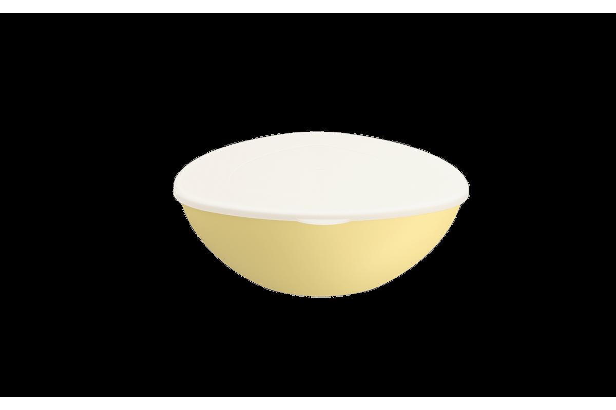 Saladeira C/ Tampa Essential 2,5L 26,7x25,4x9,5cm Amarelo Soft Coza