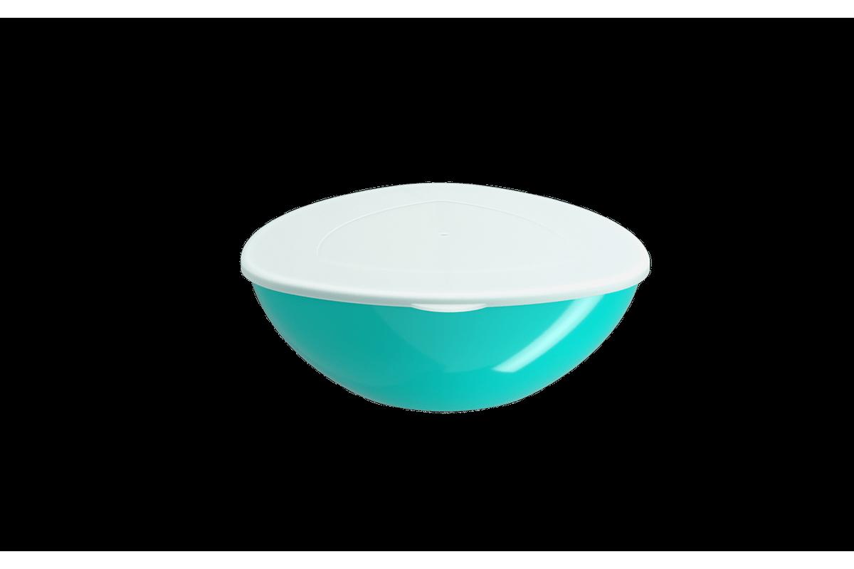 Saladeira C/ Tampa Essential 2,5L 26,7x25,4x9,5cm Verde Coza