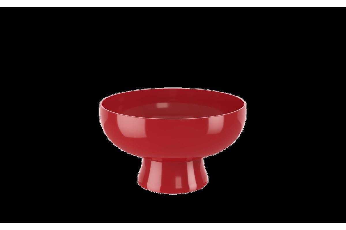 Saladeira Cake 2,4 L 23,6 X 23,6 X 13,2 Cm 2,4 L Vermelho Bold Coza