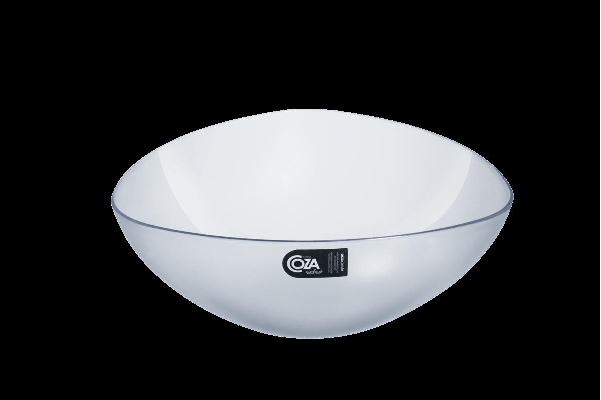 Saladeira Triangular 2,5 L Essential 25 X 25 X 9,2 Cm Cristal Coza