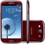 Samsung Galaxy S III I9300 Garnet Red 16GB Android 4.0 - Câmera 8MP 3G Wi-Fi GPS