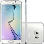 "Samsung Galaxy S6 Edge Branco Desbloqueado 32GB 4G Android 5.0 Tela 5.1"" Octa-Core Câmera 16MP"