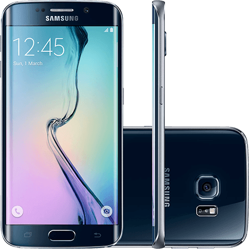 "Samsung Galaxy S6 Edge 32GB 4G Android 5.0 Tela 5.1"" Câmera de 16MP - Preto"