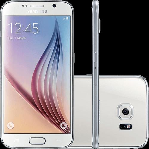 "Samsung Galaxy S6 32GB 4G Android 5.0 Tela 5.1"" Câmera 16MP - Branco"