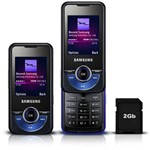 Samsung M2710 Beat Twist Azul - Gsm C/ Câmera 2.0mp C/ Zoom 4x, Filmadora, Mp3 Player, Rádio Fm, Bl