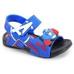 Sandália Avengers Hero Up Capitão América Preto Azul - 21498