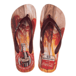 Sandália Coca-Cola Tropic Wood Bege 42/43