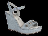 Sandália Feminina Dakota Z2331 Anabela Jeans   Dtalhe Calçados