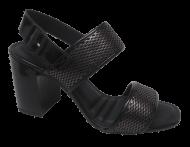 Sandália Feminina Preta Dakota Z2441 Social   Dtalhe Calçados