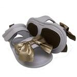 Sandália para Bebê Joaquina - Branco/Gold